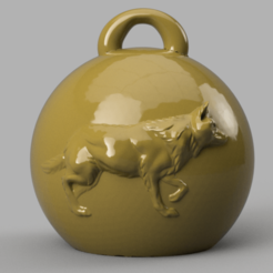 loup 1 .png Download STL file wolf Christmas ball • 3D printing object, motek