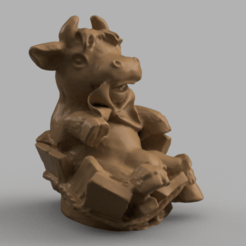 vache tonneau rendu 5 .png Download STL file Barrel cow • 3D printer model, Motek3D