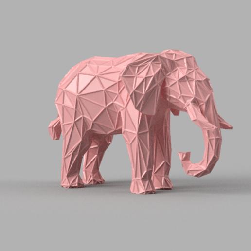 Télécharger modèle 3D Elephant wireframe, Motek3D