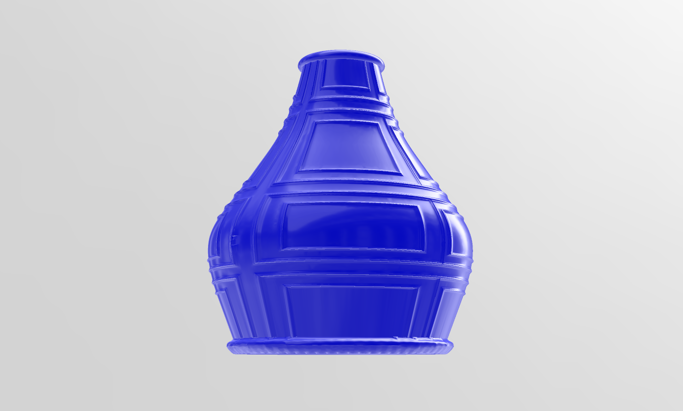 2.png Download free STL file Vintage vase • 3D printer model, motek