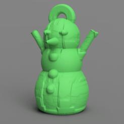 7.png Télécharger fichier STL gratuit Bonhomme de neige • Design imprimable en 3D, motek