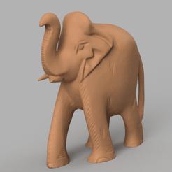elephant rond rendu 5.png Télécharger fichier STL Elephant rond • Design pour impression 3D, Motek3D