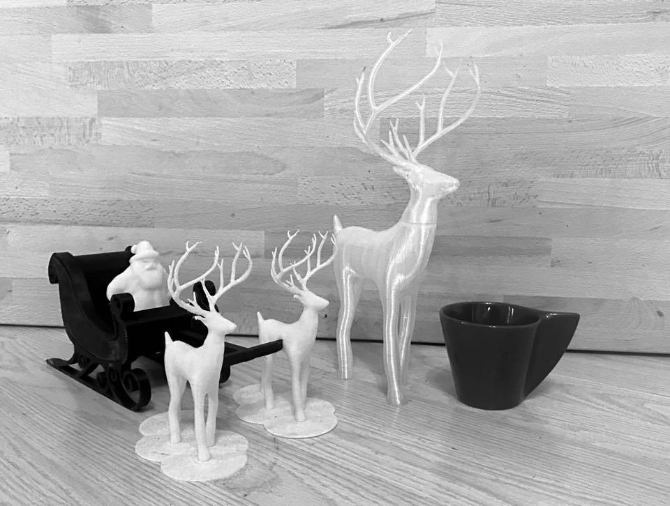 22728835_10214184258869813_5789086711379673219_n.jpg Download free STL file Great Christmas deer + voronoi + Big sled • 3D print design, motek