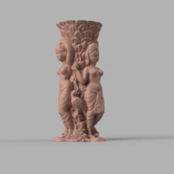 statue marie rendu 2 .png Télécharger fichier STL statue et porte stylo X2  • Objet imprimable en 3D, motek