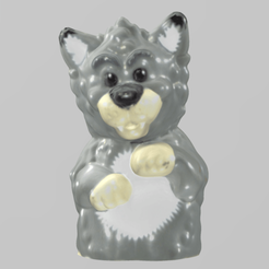 loup pres 1.png Download free STL file Loup • 3D printer object, Motek3D