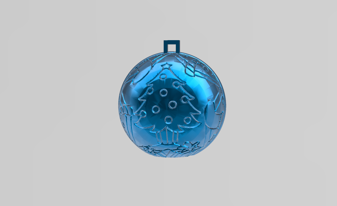 boule de noel 3.png Download free STL file christmas ball 3 • 3D print model, Motek3D