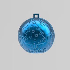 Download free 3D printer model christmas ball 3, Motek3D