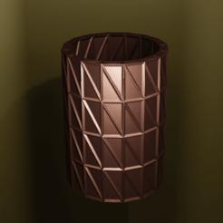 Download free 3D printer templates Triangle vase, Motek3D