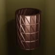 Télécharger objet 3D gratuit Vase triangle , Motek3D