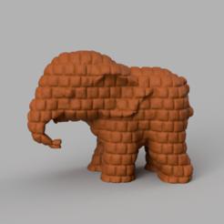 265.png Download STL file Elephant • 3D printing object, motek