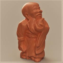moine bouddhiste rendu 1 1.png Download STL file Buddhist monk • 3D printing template, motek