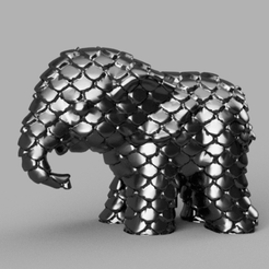 04.png Télécharger fichier STL Elephant  • Modèle pour imprimante 3D, motek