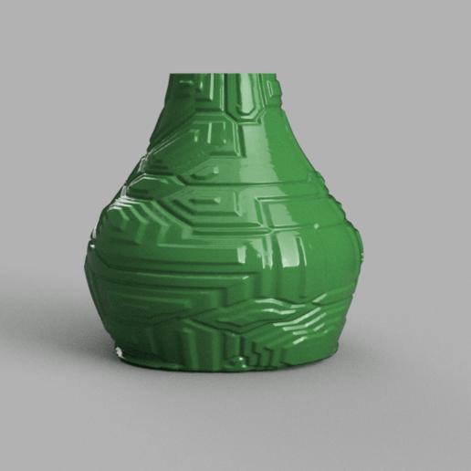 vase techno.png Download STL file Techno Vase • 3D print model, motek