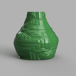 Télécharger fichier STL gratuit Vase Techno, Motek3D