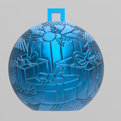Download free STL files christmas ball 4, Motek3D
