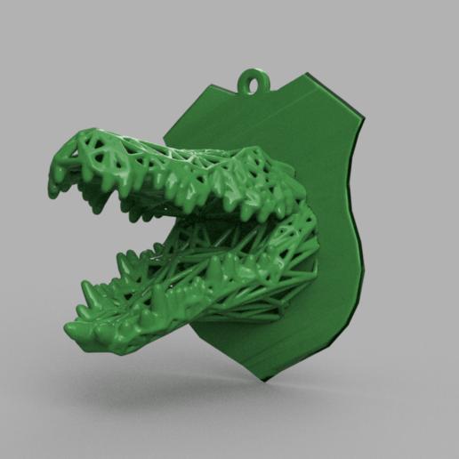 crocodile 2 .png Download STL file Voronoi crocodile • 3D printable design, motek