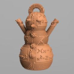 15.png Télécharger fichier STL gratuit Bonhomme de neige • Design imprimable en 3D, motek