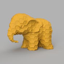 013.png Télécharger fichier STL Elephant  • Modèle pour imprimante 3D, motek