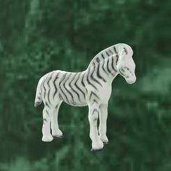 zebre paint 2.png Télécharger fichier STL zebre • Plan pour impression 3D, motek