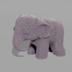 0069.png Télécharger fichier STL gratuit Elephant  • Modèle pour imprimante 3D, motek