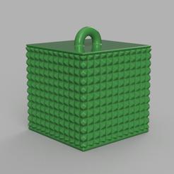 02 rendu .png Download STL file Garland cube • Model to 3D print, motek