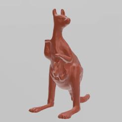 kangourou pres 1.png Download free STL file kangaroo • 3D print template, motek