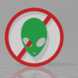 Free STL files UFO sign, Motek3D