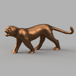 tigre pres carré .png Download STL file Panther • 3D printing model, motek