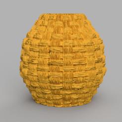 12 rendu 1 .png Download STL file fiber vase • 3D printable model, motek