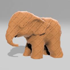 0074.png Télécharger fichier STL Elephant  • Modèle pour imprimante 3D, motek