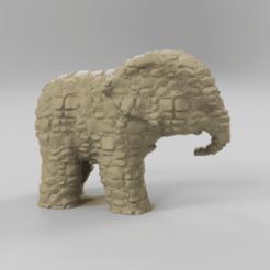 270.png Télécharger fichier STL Elephant  • Modèle pour imprimante 3D, motek