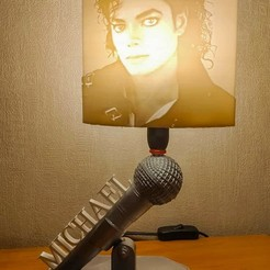 mickael jackson pres.jpg Download STL file Michael Jackson Lamp • 3D printing model, motek