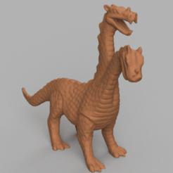 dragon a 2 tete rendu 2 .png Télécharger fichier STL Dragon a 2 tete  • Modèle pour impression 3D, Motek3D