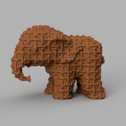043.png Download STL file Elephant • 3D printing object, motek