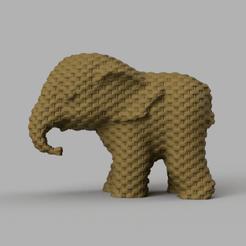 052.png Download free STL file Elephant • 3D printing object, motek