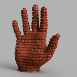 Descargar archivo 3D Mano de Ladrillo, Motek3D