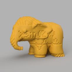 0015.png Télécharger fichier STL Elephant  • Modèle pour imprimante 3D, motek