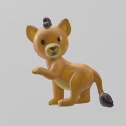 petit lion pres.png Download STL file Little lion • 3D printable design, motek