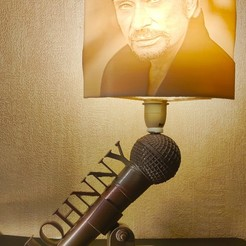 Download 3D printing files Johnny Hallyday lamp, Motek3D