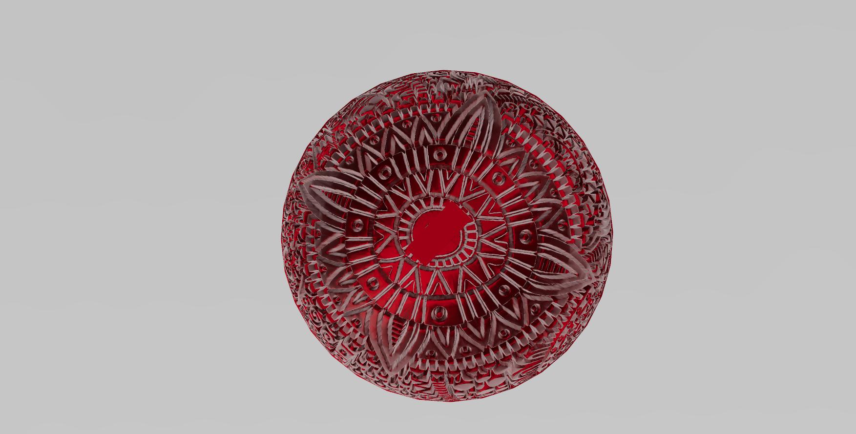 mandala sphere noel 3.png Download free STL file christmas ball 5 • 3D printing model, Motek3D