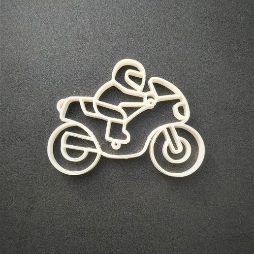 fin.jpg Download STL file Motorcycle keychain • 3D printable template, motek