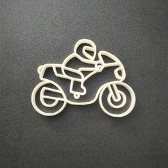 fin.jpg Download STL file Motorcycle keychain • 3D printable template, motek