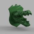 croco 1 .png Download STL file Voronoi crocodile • 3D printable design, motek
