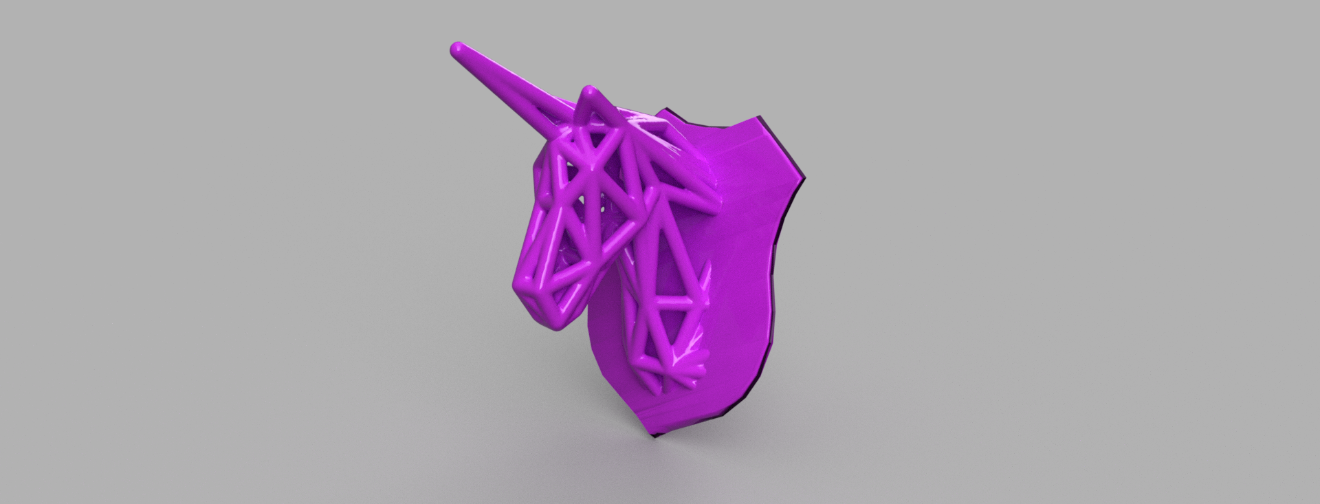 licorne 1 .png Télécharger fichier STL Licorne voronoi  • Plan pour impression 3D, Motek3D