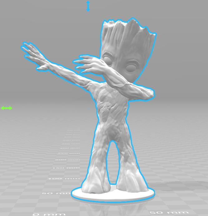image2.png Download free STL file Baby Groot Dab • 3D printing template, Motek3D