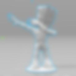 Imprimir en 3D gratis Baby Groot Dab, Motek3D