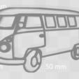 van pres.png Download STL file Van wolkswagen keychain • 3D printer template, motek