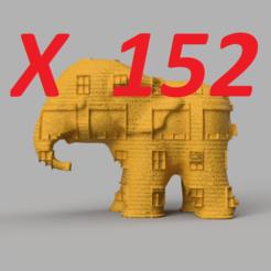 pres 1.png Télécharger fichier STL Eléphant X152 • Plan pour impression 3D, motek