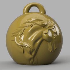 cheval 2 .png Download STL file horse Christmas ball • 3D printing model, motek