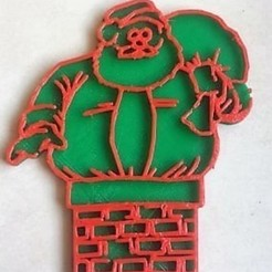 Download free 3D printer templates Santa christmas, Motek3D